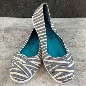 Blowfish, blue striped, ballet flat, US 9, EUC